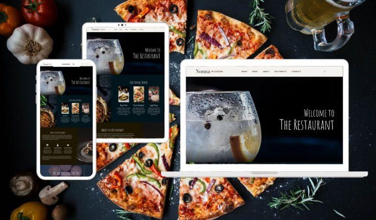 Site Creative Marketing, Italian Restaurant, Custom Website