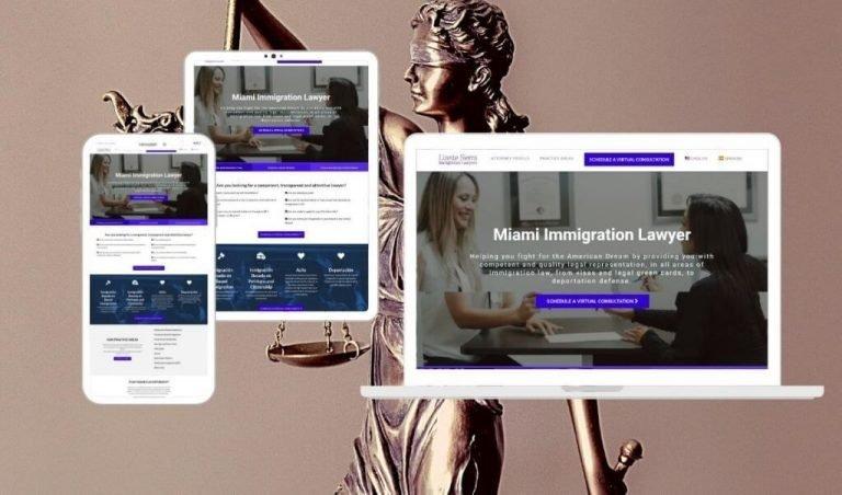 Site Creative Marketing, Law Firm, Custom Website